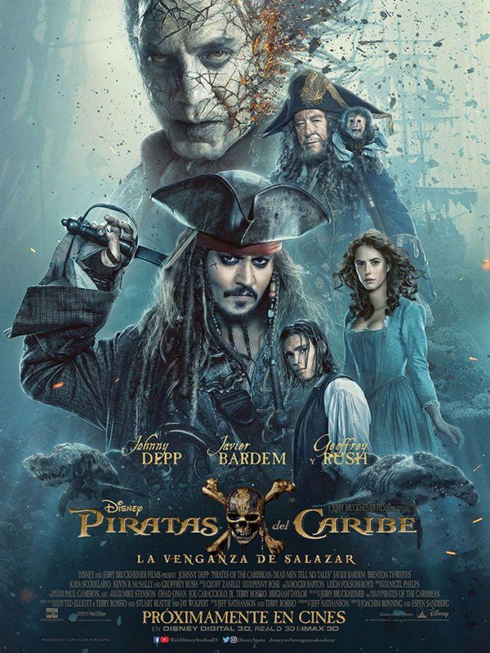 Carteles de Piratas del Caribe 5 La Venganza de Salazar
