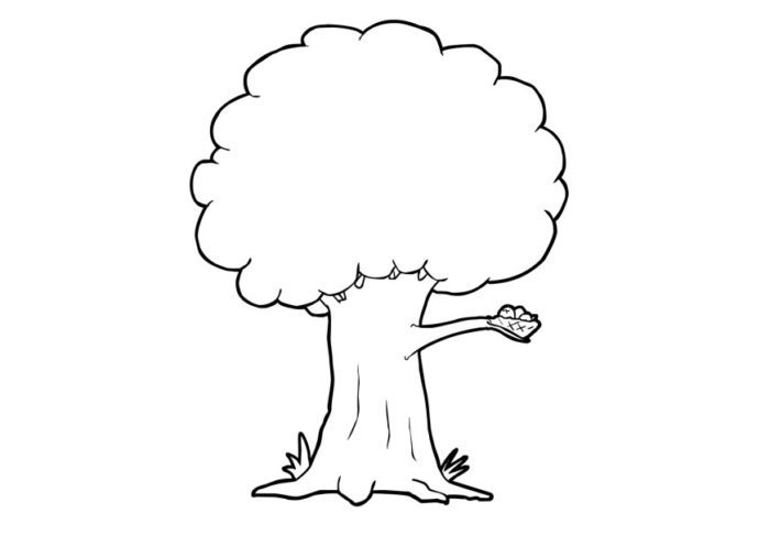simple tree coloring pages - photo#25