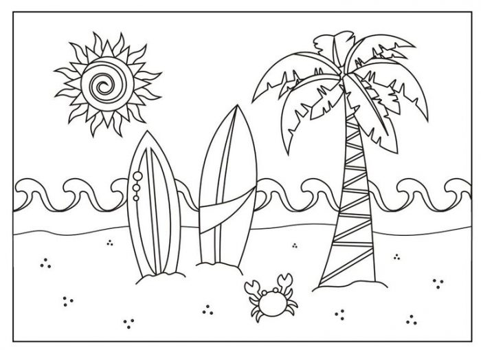 Dibujos del verano para colorear e imprimir