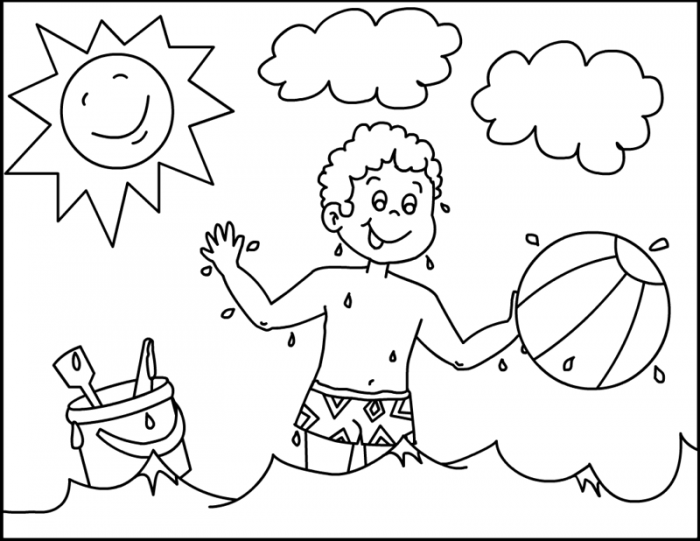 Dibujos del verano para colorear, pintar e imprimir