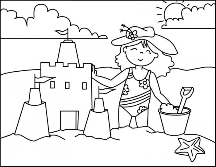Imagenes Para Colorear E Imprimir: Dibujos Del Verano Para Colorear, Pintar E Imprimir