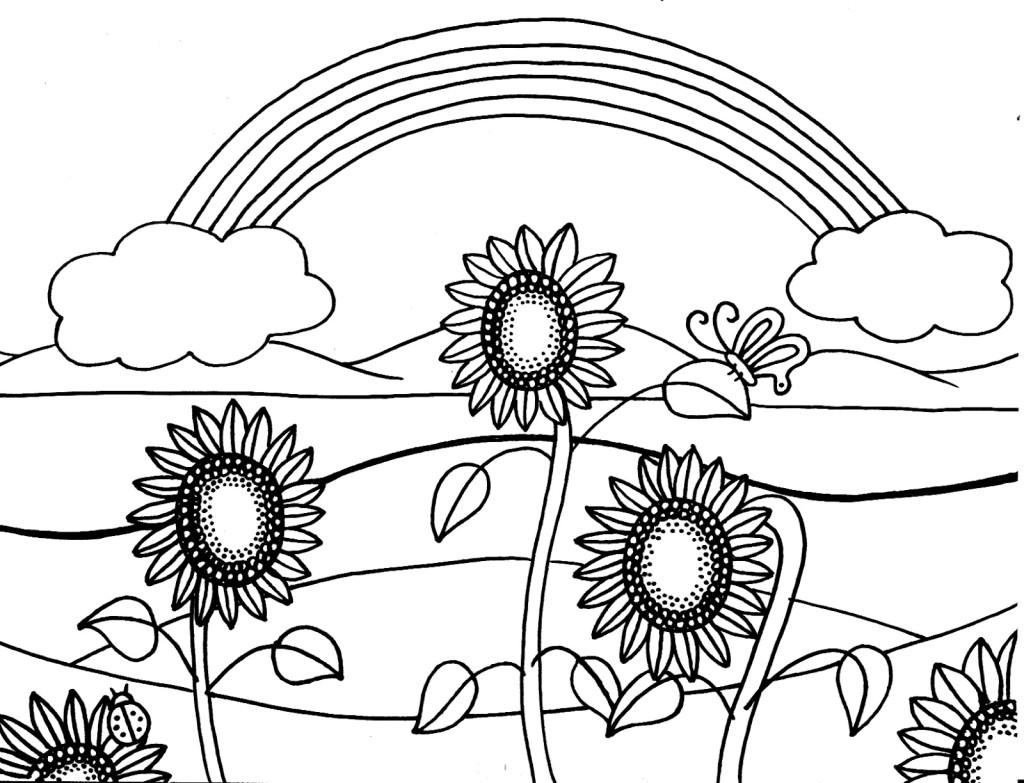 Dibujos del verano para colorear
