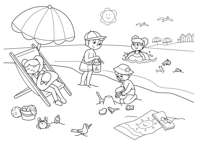 dibujos del verano para colorear  pintar e imprimir