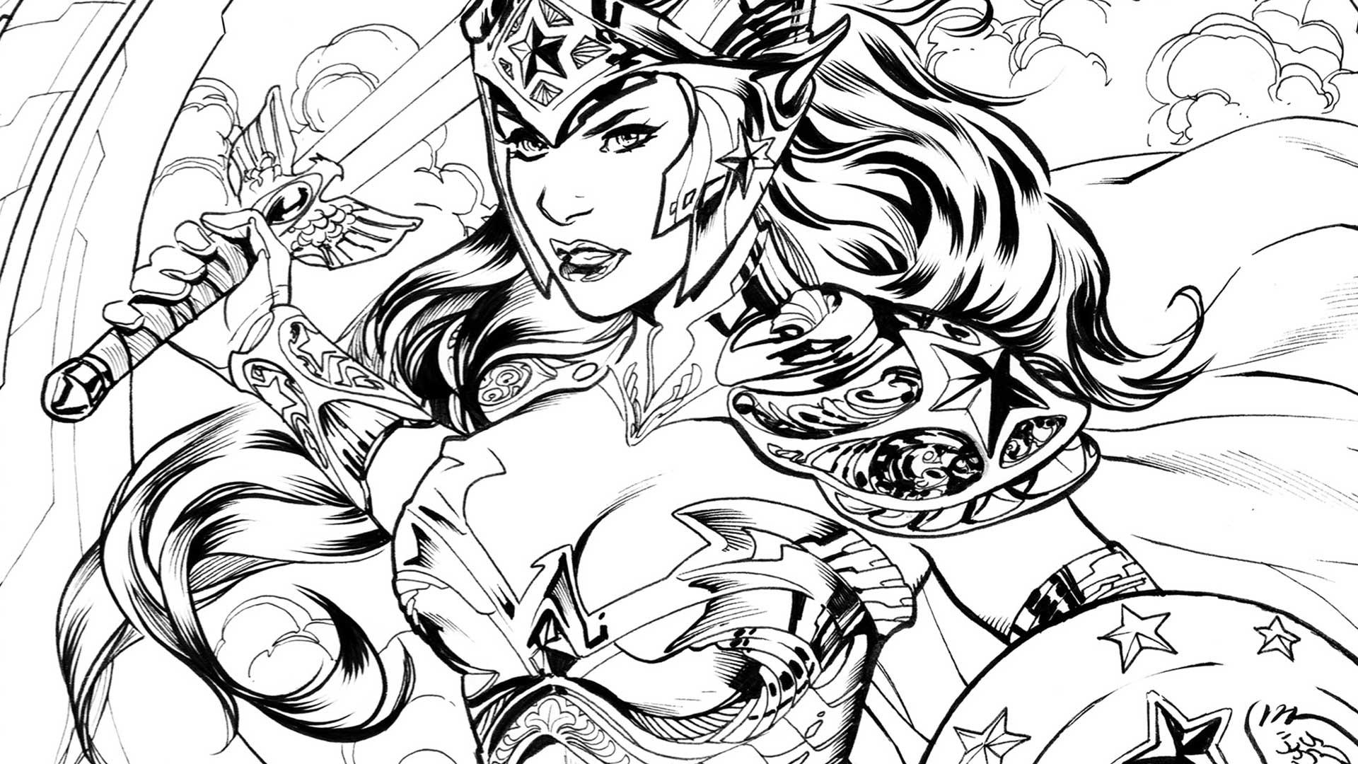 Dibujos de Wonder Woman para Colorear e Imprimir