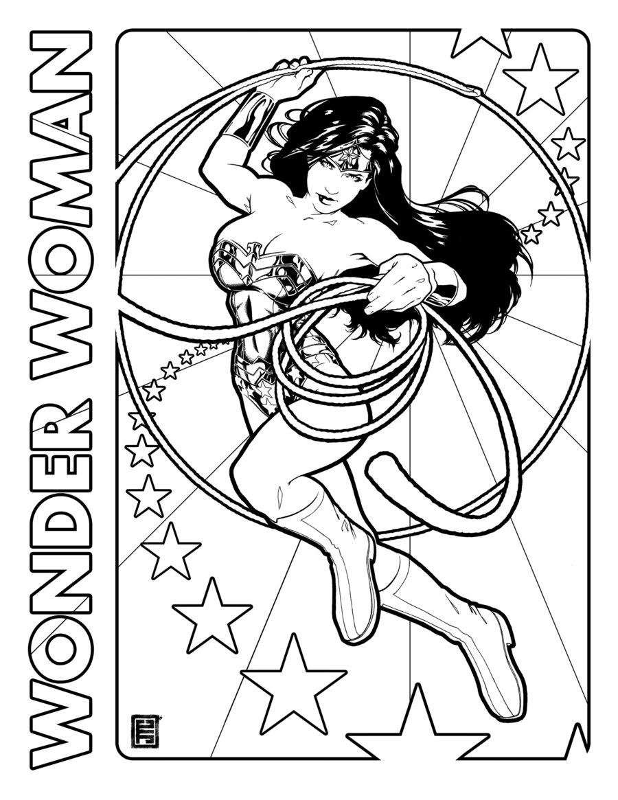 Dibujos de Wonder Woman para Colorear