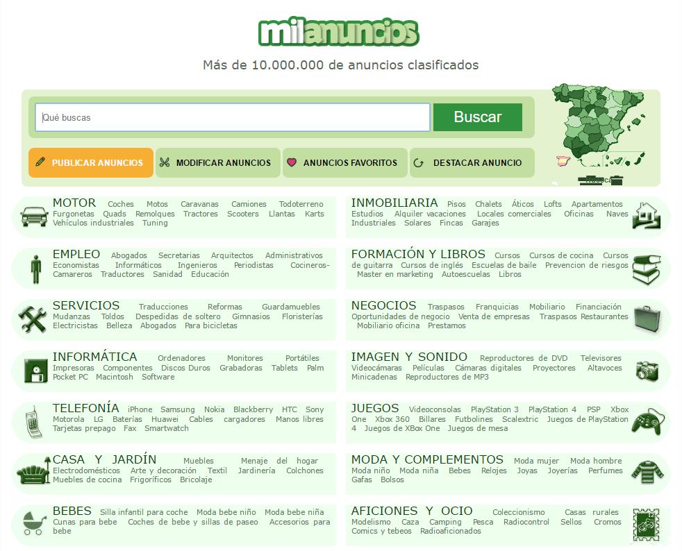 anuncios clasificados gratis espana
