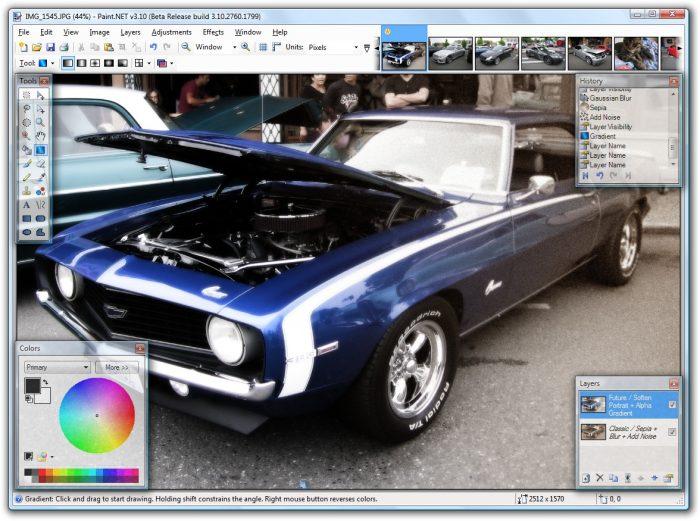 Paint.NET Editor Gráfico gratuito