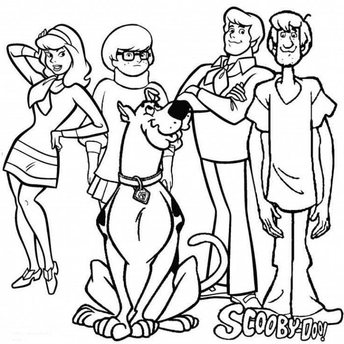 Dibujos de Scooby Doo para Imprimir y colorear
