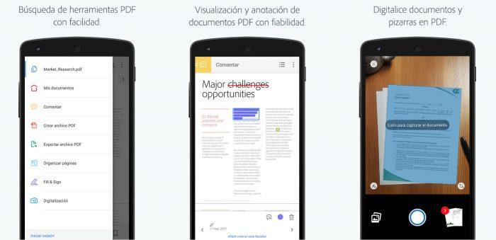Adobe Acrobat Reader para móvil