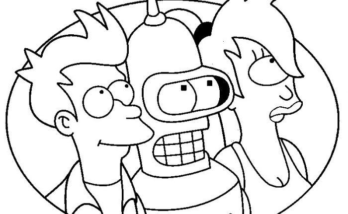Dibujos de Futurama para Imprimir, Pintar y Colorear