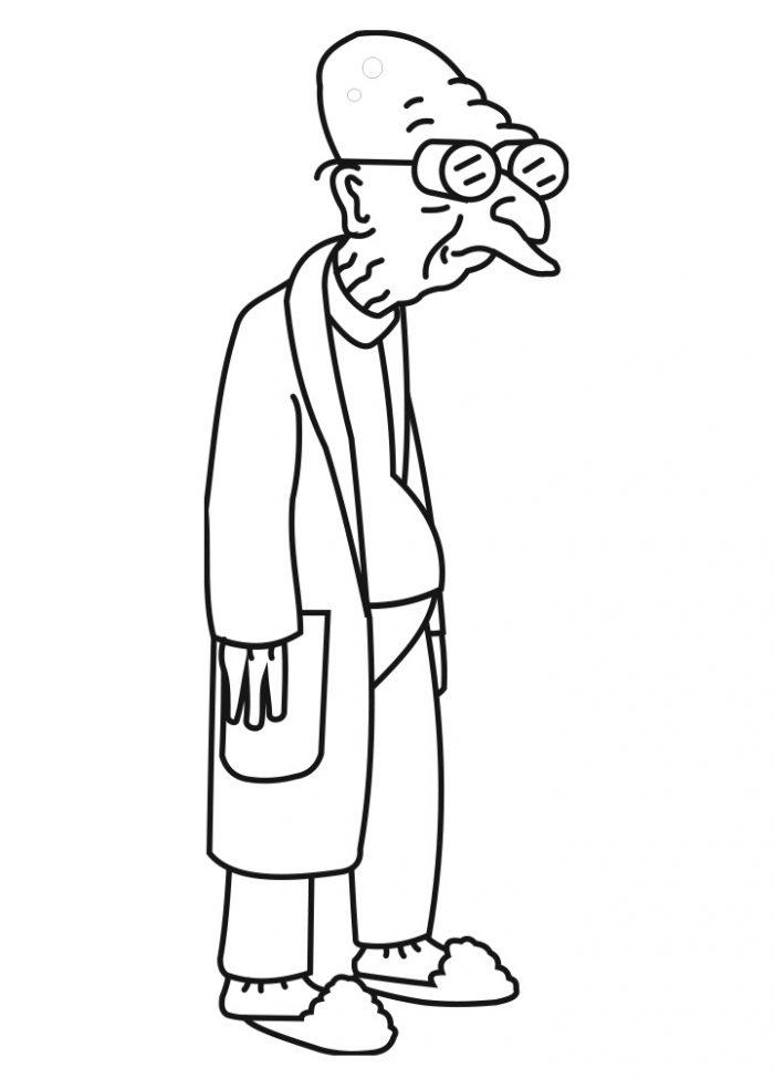 Dibujo del doctor Hubert