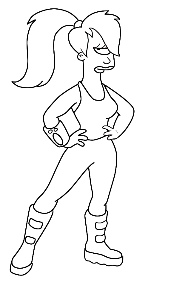 coloring pages of futurama - photo#12