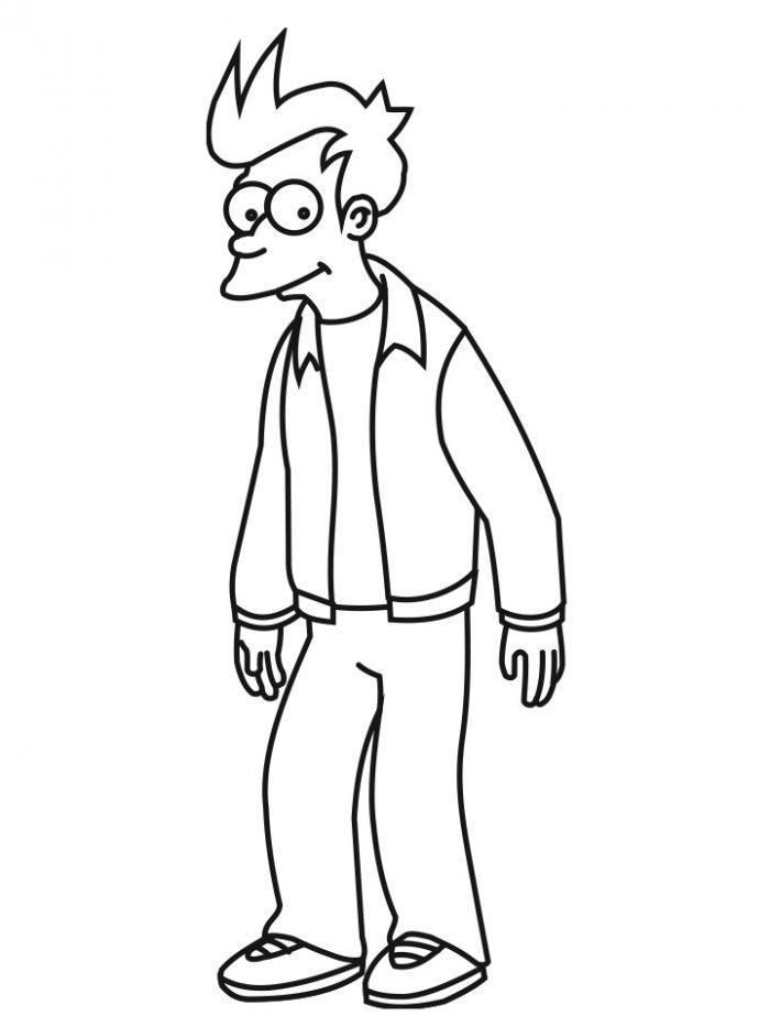 Dibujo de Fry, Futurama