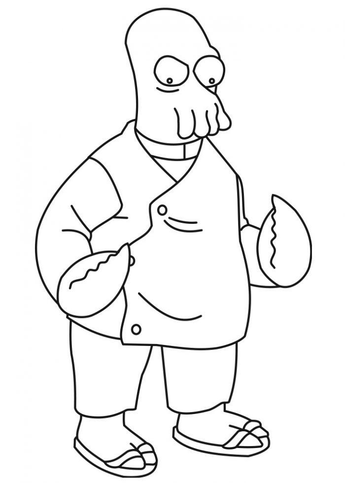 Dibujo del Doctor Zoidberg