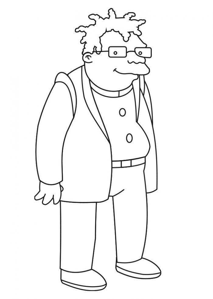 Dibujo de Hermes Conrad, Futurama