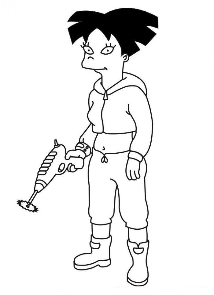 Dibujo de Amy Wong, Futurama