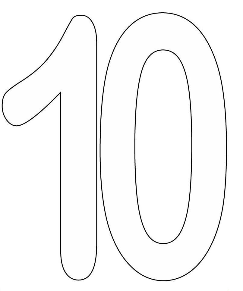 Dibujos de números para colorear e imprimir gratis, números del 1 al 10