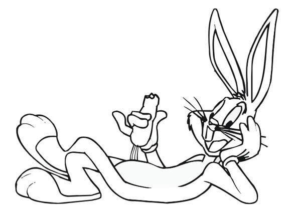 dibujos de bugs bunny para colorear pintar e imprimir