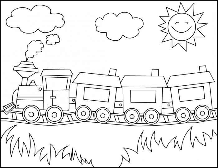 Dibujos para colorear de trenes