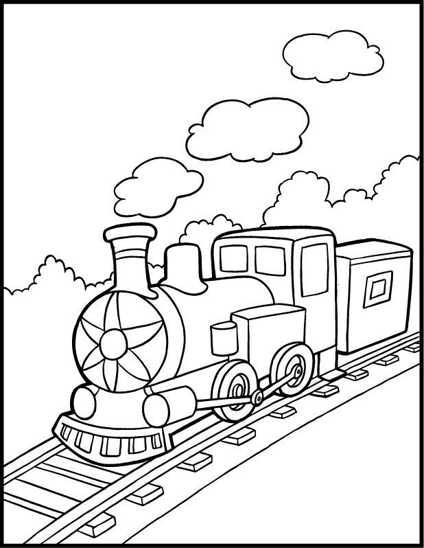 Dibujos para Imprimir y colorear de trenes