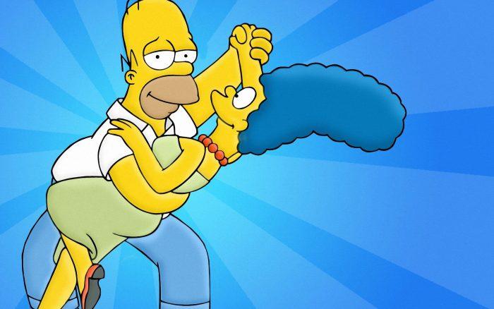 Homer y Marge Simpson Wallpaper