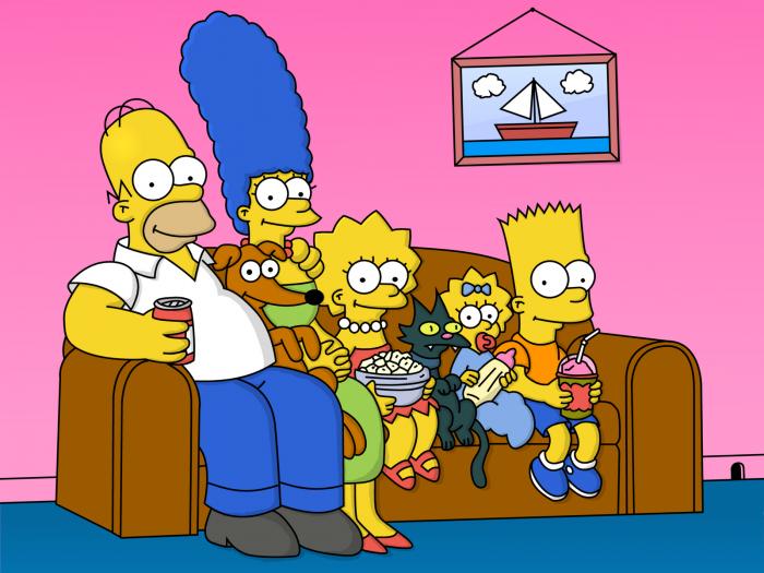 Familia de Los Simpson en el sofa