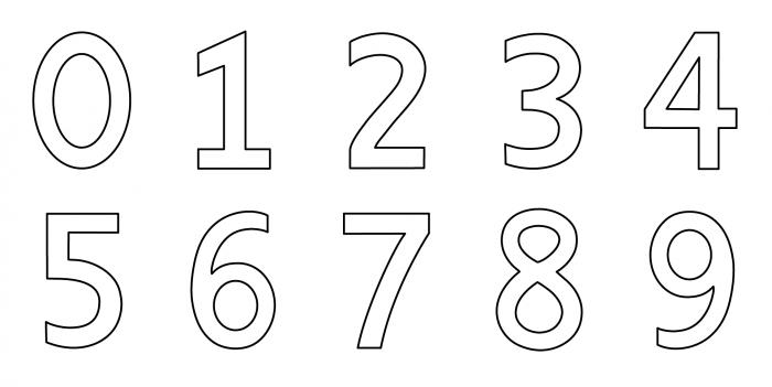 dibujos de números para pintar
