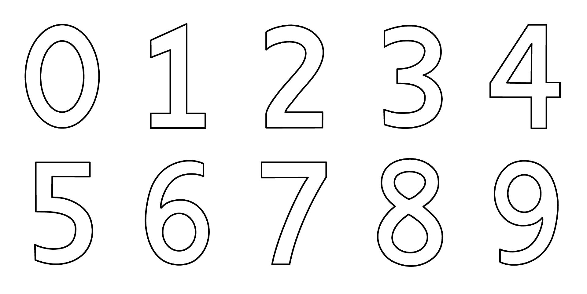Dibujos Del Numero 7 Para Colorear: Dibujos De Números Para Colorear E Imprimir Gratis