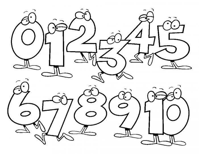 números para colorear e imprimir gratis