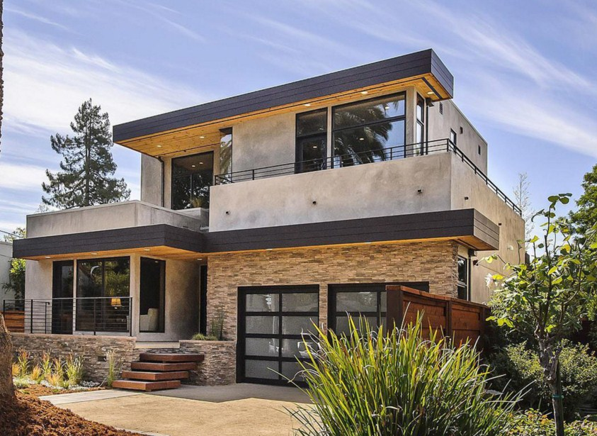 Fachadas de casas de piedra modernas cl sicas y minimalistas for Piedras para fachadas minimalistas