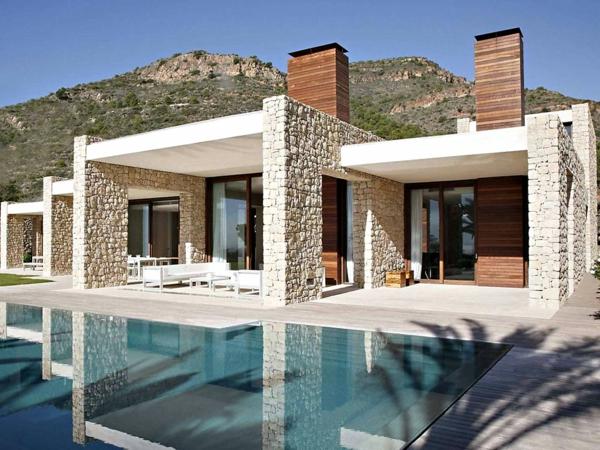 Fachadas de casas de piedra modernas cl sicas y minimalistas for Ingresso ville moderne