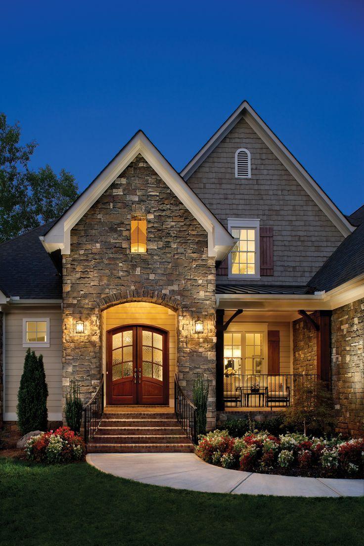 Fachadas de casas de piedra modernas cl sicas y minimalistas - Casas americanas modernas ...