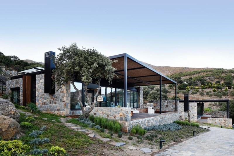 Fachadas de casas de piedra modernas cl sicas y minimalistas for Rendering casa gratis