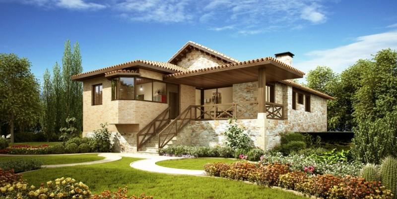 Fachadas de casas de piedra modernas cl sicas y minimalistas - Piedras para fachadas de casas modernas ...