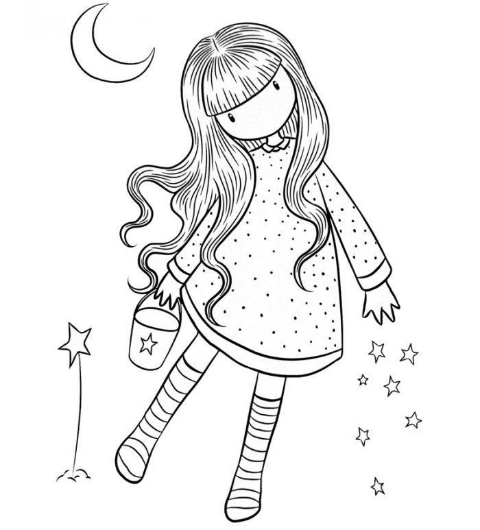 Dibujos de muñecas Gorjuss para colorear e imprimir gratis