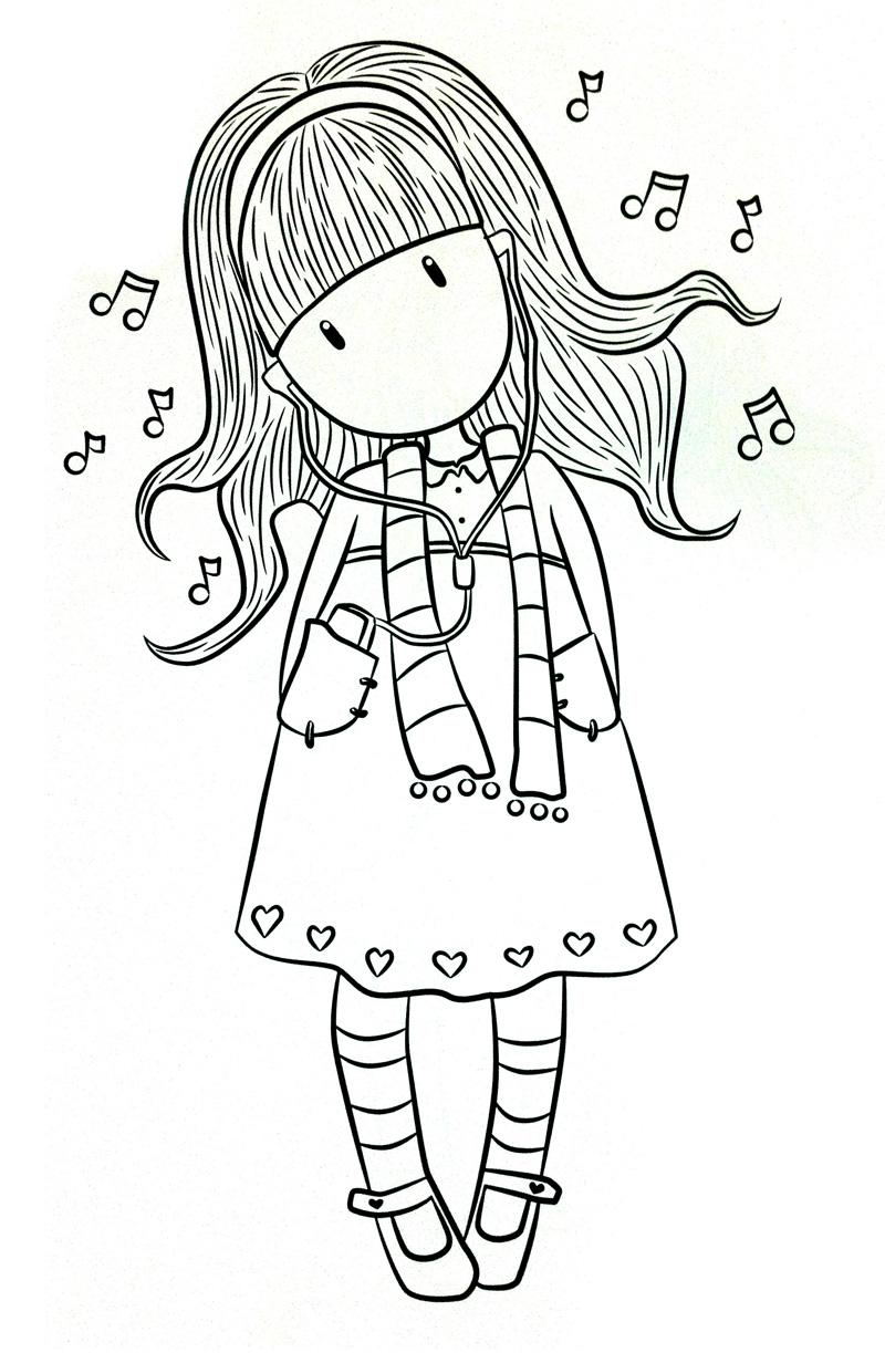 Dibujos De Gorjuss Santoro Para Colorear E Imprimir Gratis