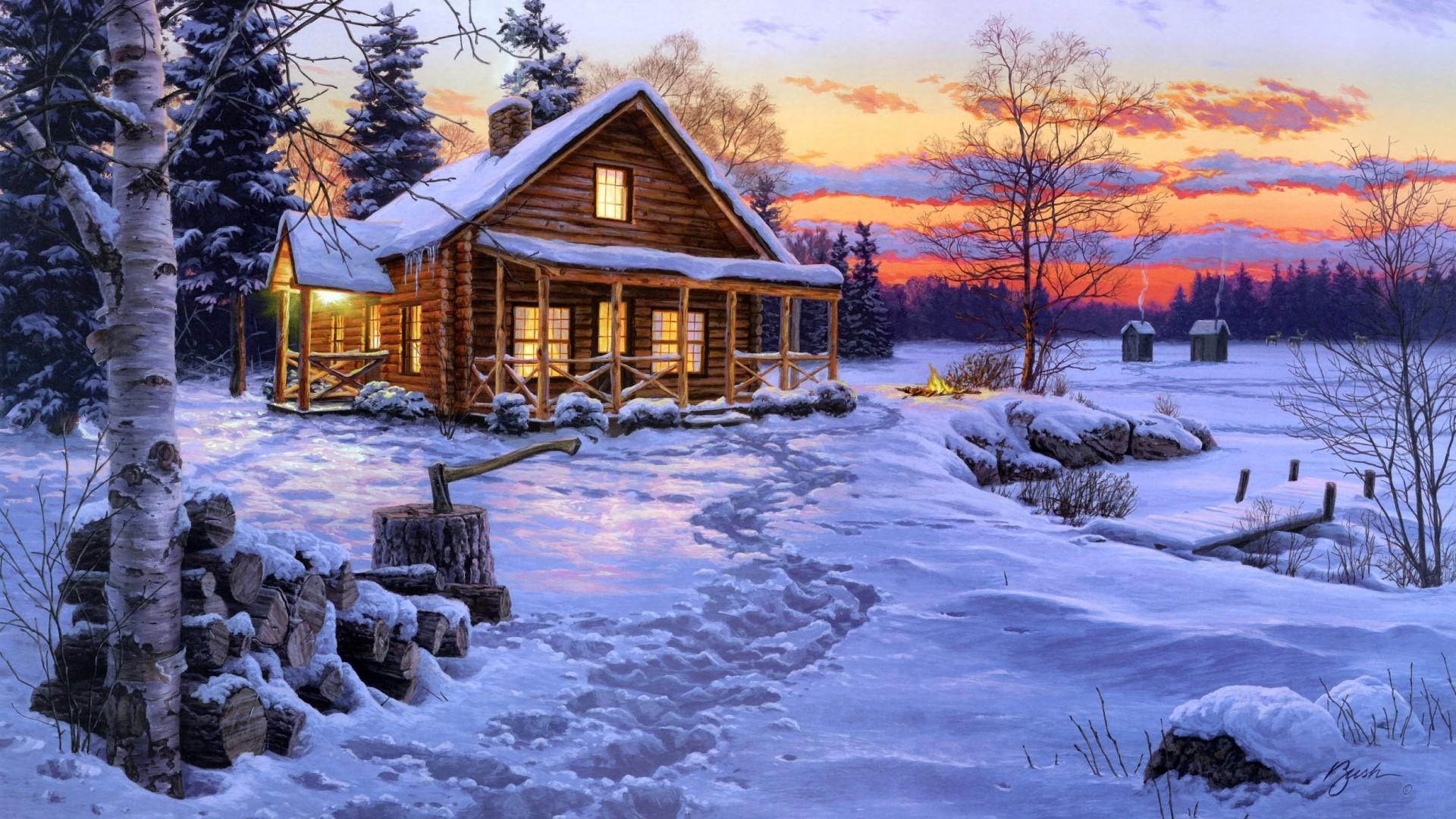 Fondos de invierno con paisajes nevados wallpapers for Imagenes de patios de invierno