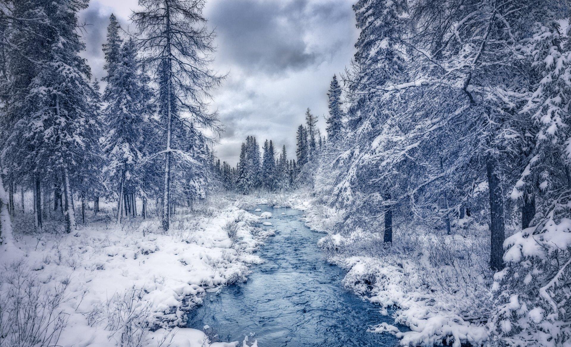 Fondos de invierno con paisajes nevados wallpapers for Desktop gratis inverno