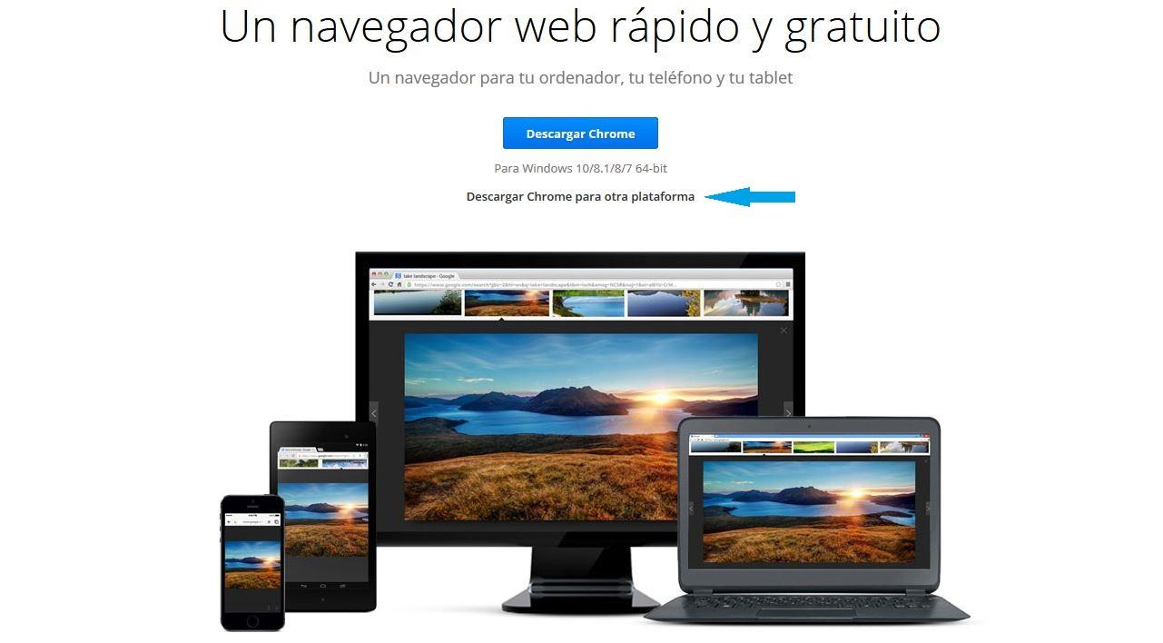 descargar google chrome de 64 bits para windows 8