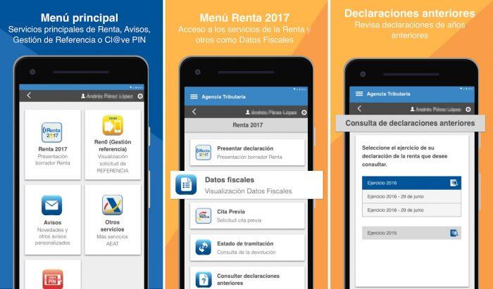 Aplicación de la Agencia Tributaria para móvil