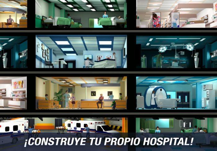 Juego de construir y gestionar hospital