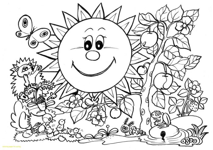 Dibujos De Primavera Para Colorear E Imprimir Gratis