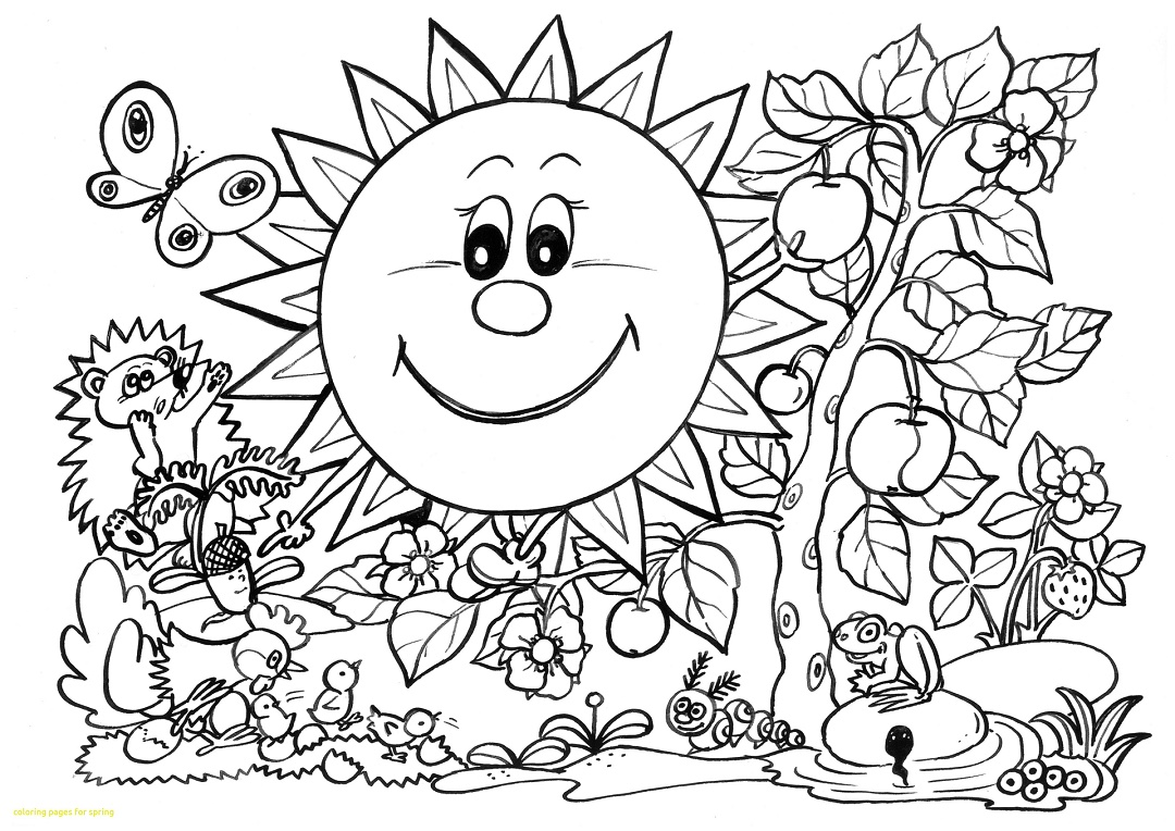 Dibujos de primavera para colorear e imprimir gratis for Coloring pages spring break