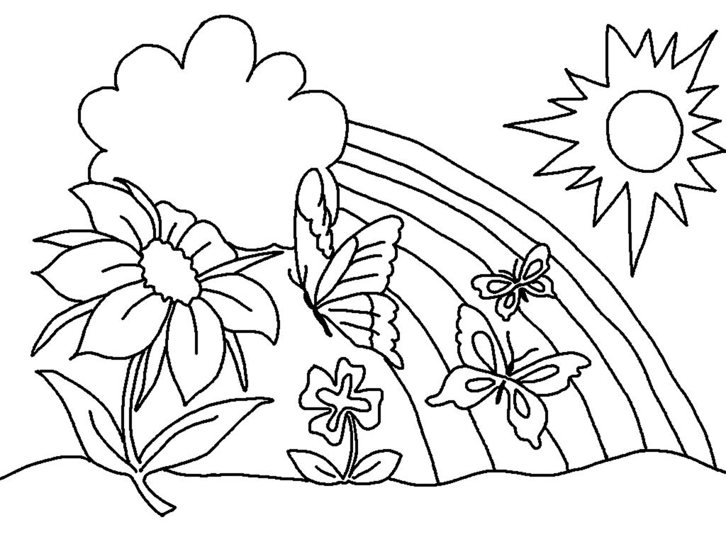 Dibujos Para Descargar Imprimir Y: Dibujos De Primavera Para Colorear E Imprimir Gratis