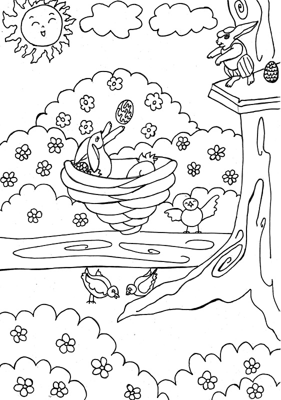 Dibujos Para Colorear Animales De La Primavera Impresion