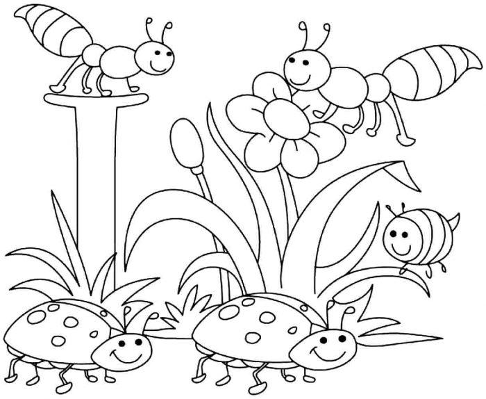 Dibujos Para Colorear Imprimir Pdf: Dibujos De Primavera Para Colorear E Imprimir Gratis