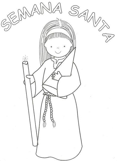 Dibujos de Semana Santa para Colorear
