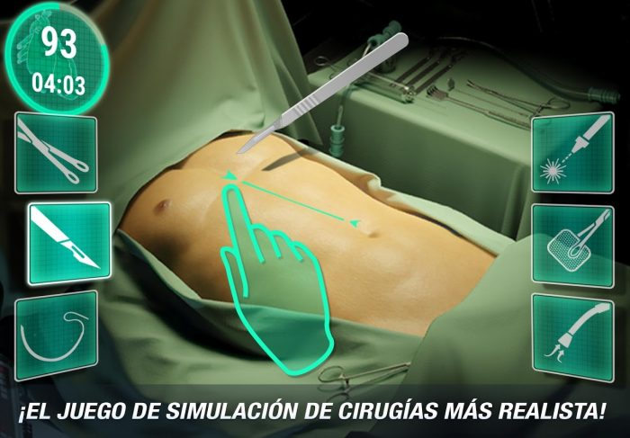 juego de operaciones medicas para Android e iPhone