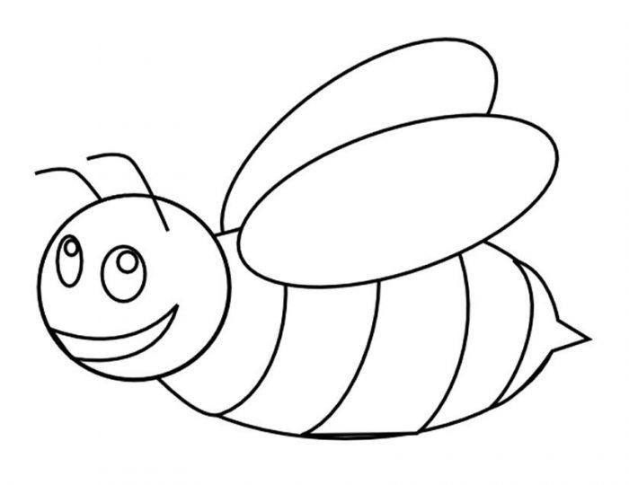 Dibujos de abejas para colorear e imprimir gratis - Abeille coloriage ...