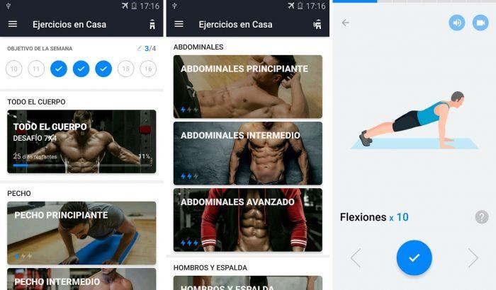 App de Ejercicios en Casa para Android e iPhone